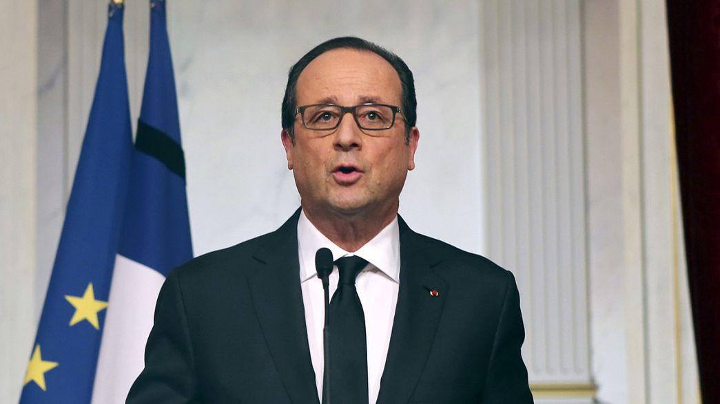 """Hollande afirma que la policía """"salvó vidas humanas"""" con sus asaltos, pero Francia """"aun está amenazada"""""""