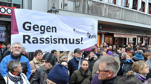 Large rally against racism and xenophobia in Dresden in Germany