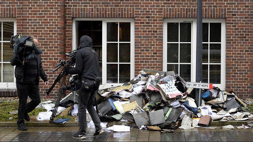 Brandanschlag auf Redaktion der Hamburger Morgenpost