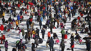 Фестиваль зимней рыбалки в Корее
