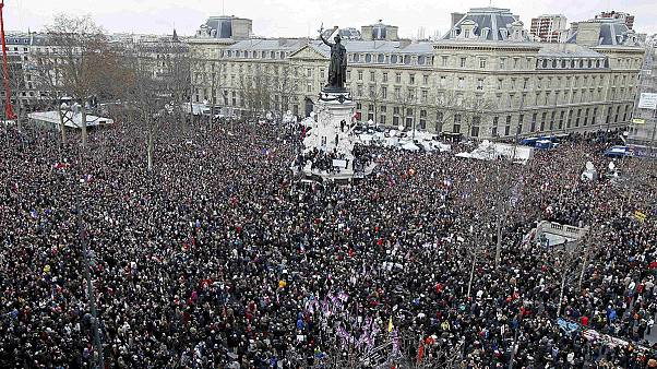 More than 1.5 million turn out for unity rally in Paris, with huge marches in other French cities
