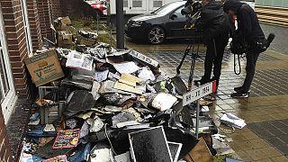 """В Гамбурге подожгли здание  газеты, опубликовавшей карикатуры """"Шарли Эбдо"""""""