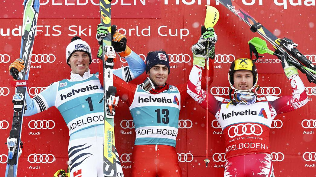 Sunday surprise: Stefano Gross takes a very close slalom victory