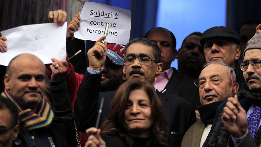 Journalists in Cairo hold their own protest rally and condemn Paris terror attacks
