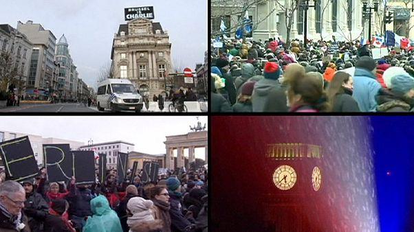 Ces pays qui manifestent en hommage aux victimes des attentats en France
