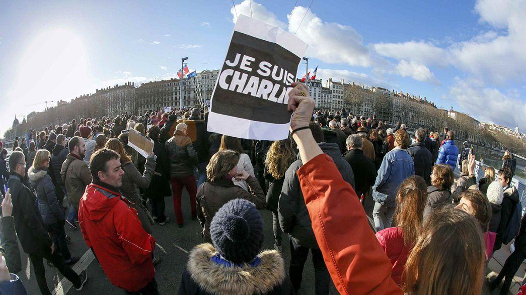 Je suis Charlie: a Lione la più grande marcia dopo Parigi
