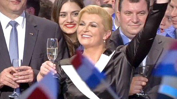 Kitarovic prima donna Presidente in Croazia