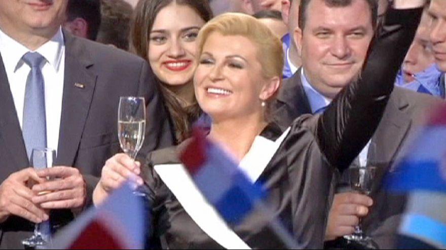 Kitarovic torna-se na primeira mulher presidente da Croácia