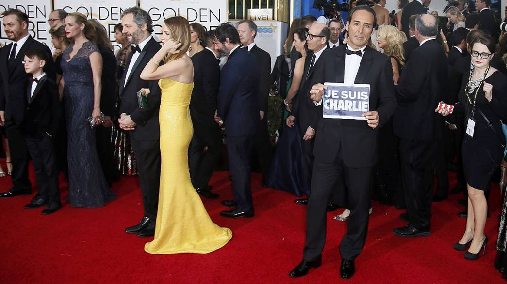 "Golden Globes awards overshadowed by stars proclaiming ""We are Charlie"""