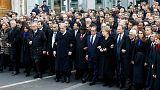 """Charlie Hebdo – des chefs d'état """"ennemis"""" de la presse à la marche républicaine"""