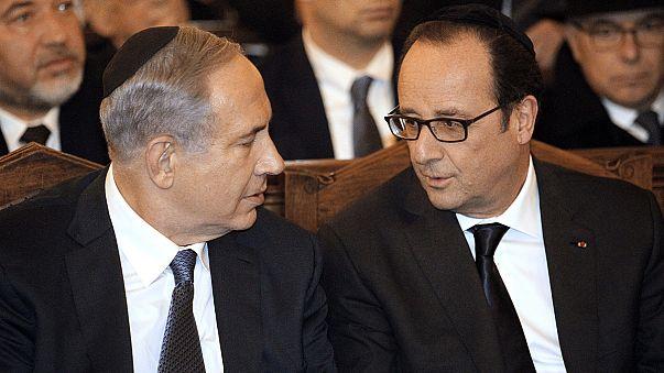 Davetsiz misafir Netanyahu Fransa'daki Yahudilerle buluştu