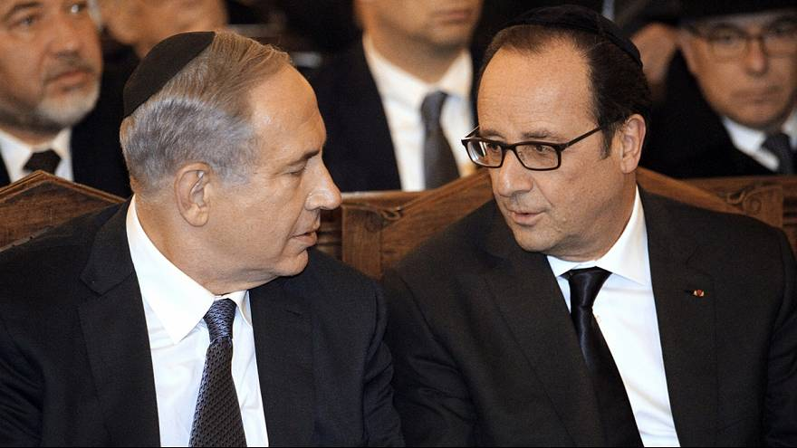 A kóserbolti túszdráma helyszínén emlékezett az izraeli kormányfő