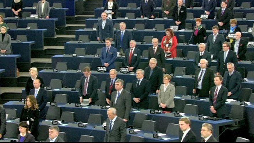 Homenaje del Parlamento Europeo a las víctimas del atentado de París
