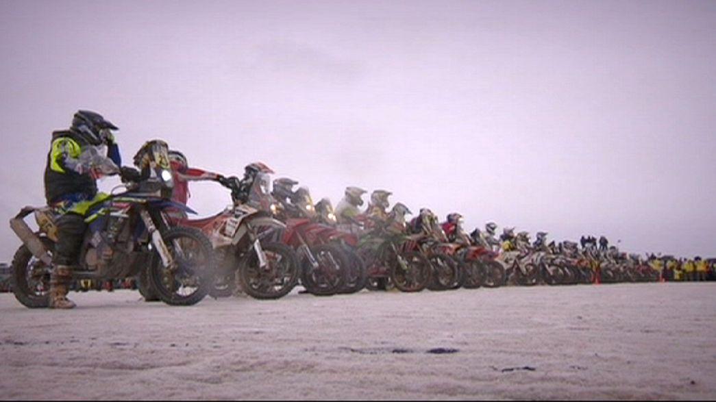 Salzige Etappe bei der Rallye Dakar