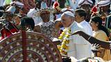 Pope Francis arrives in Sri Lanka urging inter religious harmony