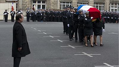 """They died so we can live freely"": France pays tribute to police killed in Paris attacks"