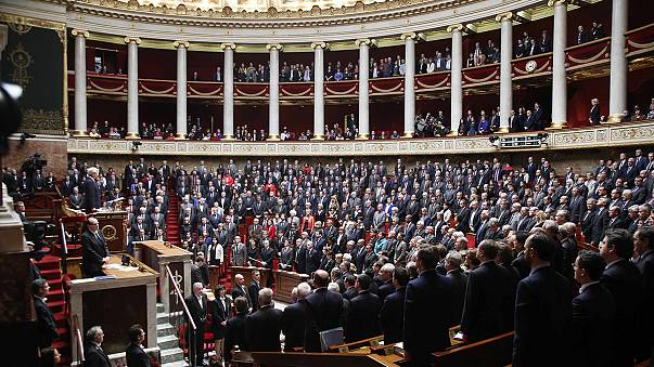 French parliament honours terror victims as new security steps are announced