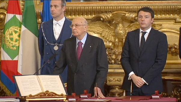 ناپولیتانو از مقام ریاست جمهوری ایتالیا کناره گیری می کند