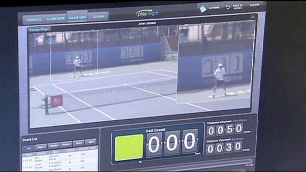 Tennistraining mit Kamera und Computer