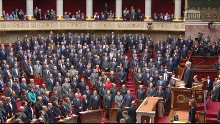 French parliament spontaneously breaks into national anthem in honour of attack victims