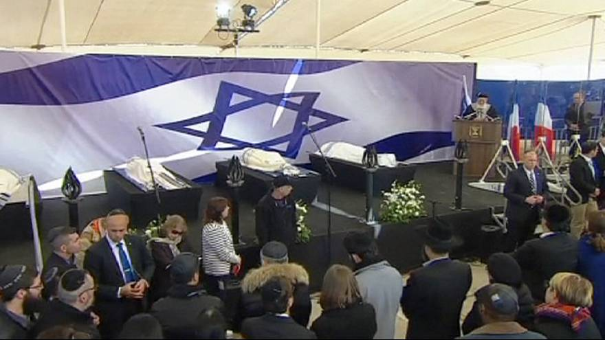 Jewish victims of Paris terror attack mourned at Jerusalem funeral
