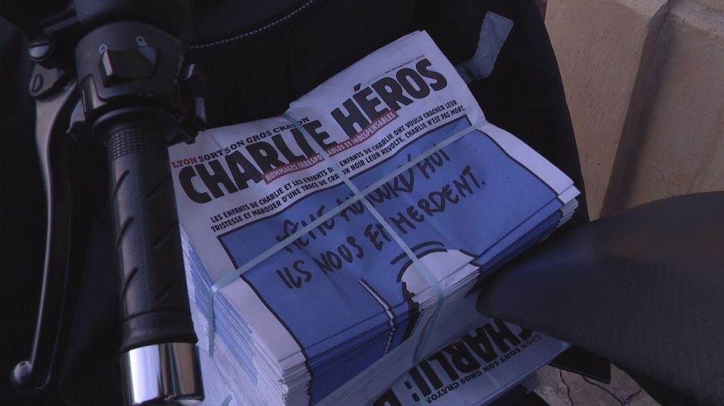 """Caricaturistas de Lyon se unen en """"Charlie Héros"""" para rendir homenaje a Charlie Hebdo"""