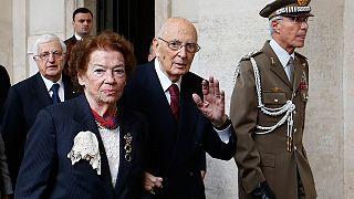 الرئيس الإيطالي جورجيو نابوليتانو يقدم استقالته
