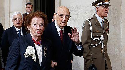 Italian President Giorgio Napolitano resigns