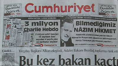 Turkey: Publication of Charlie Hebdo excerpts sparks strong reactions