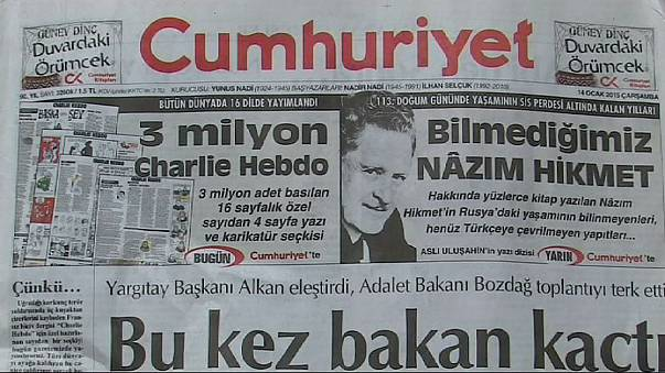 Турецкая газета опубликовала номер Charlie Hebdo... частично