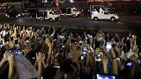 Tens of thousands turn out to greet Pope Francis in the Philippines