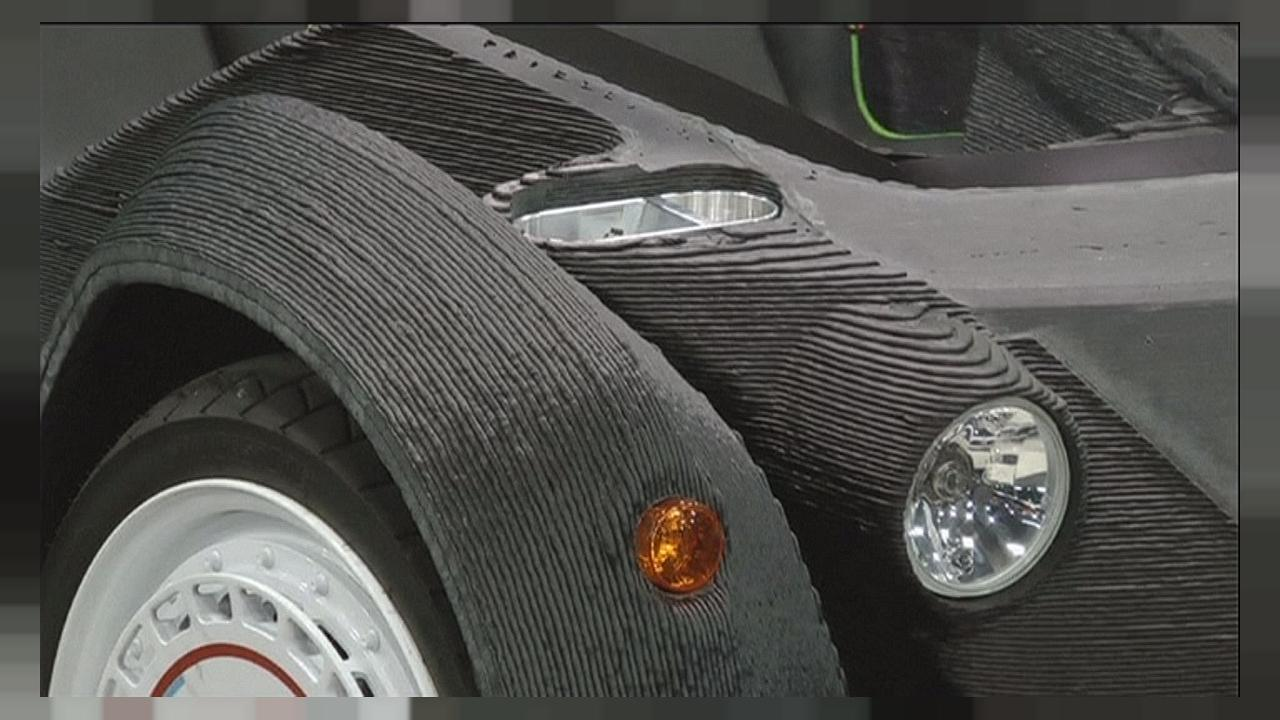 World's first 3D-printed car is born in Detroit