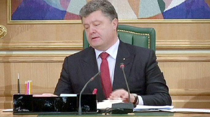 Украина. День траура по погибшим в результате обстрела автобуса