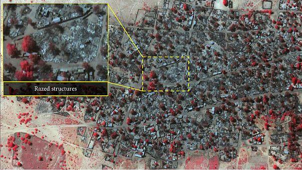 Imágenes por satélite muestran la magnitud del terror provocado por Boko Haram en Nigeria