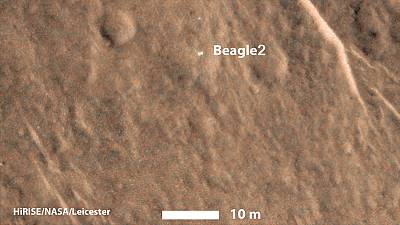 Lost Mars probe Beagle 2 found on the red planet