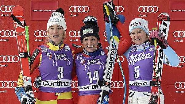 Sci: vittoria di Elena Fanchini nella discesa di Cortina d'Ampezzo