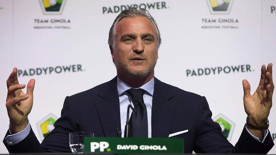 Calcio: Ginola vuole sfidare Blatter per la Presidenza Fifa