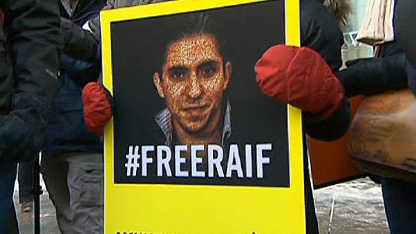 وقفة احتجاجية في مونريال تضامنا مع المدون رائف بدوي