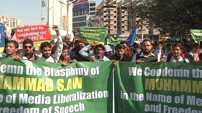 """إحتجاجات في عدد من الدول على رسومات """"شارلي إيبدو """""""