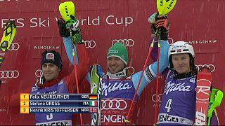 Alman kayakçı Felix Neureuther Wengen slalom yarışlarını önde tamamladı