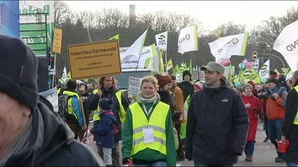 برلين :مظاهرات ضد المنتجات الغذائية المعدلة وراثيا