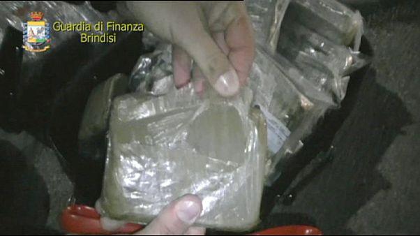 Operación contra el narcotráfico en Italia