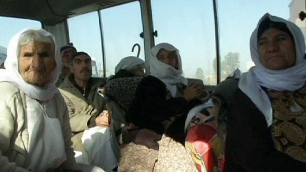 Unos 350 yazidíes liberados por el grupo Estado Islámico