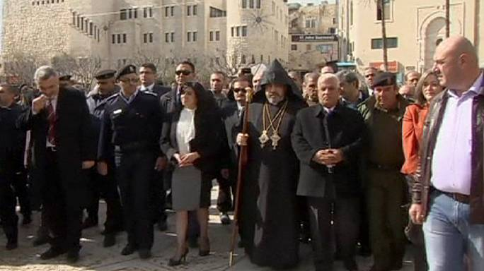 Armenians celebrate Christmas in West Bank town of Bethlehem