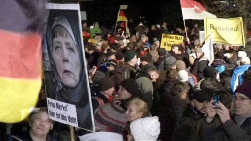 Pegida weekly protest march in Dresden cancelled after attack threat