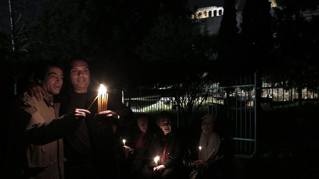"""Vigília em Atenas pelos """"mármores de Elgin"""""""