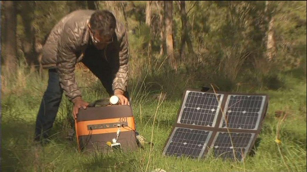 Uma central portátil para produzir energia solar