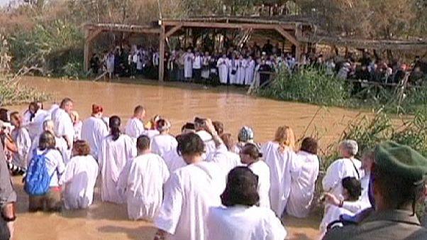 Orthodox Christians celebrate the baptism of Jesus at the Jordan river