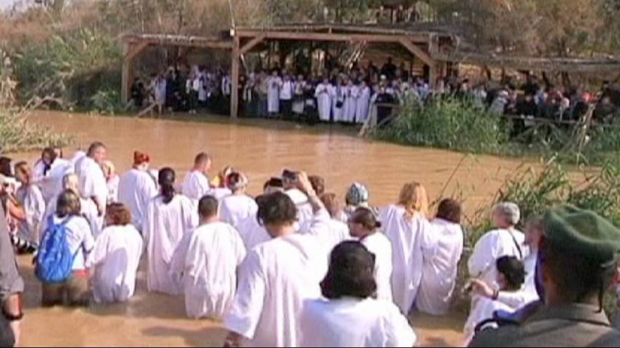 Orthodox Christians celebrate the baptism of Jesus at the Jordan river