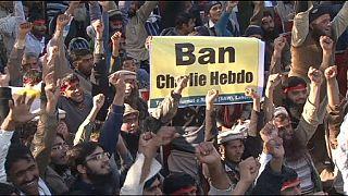 """Kundgebung in Pakistan gegen """"Charlie Hebdo"""""""